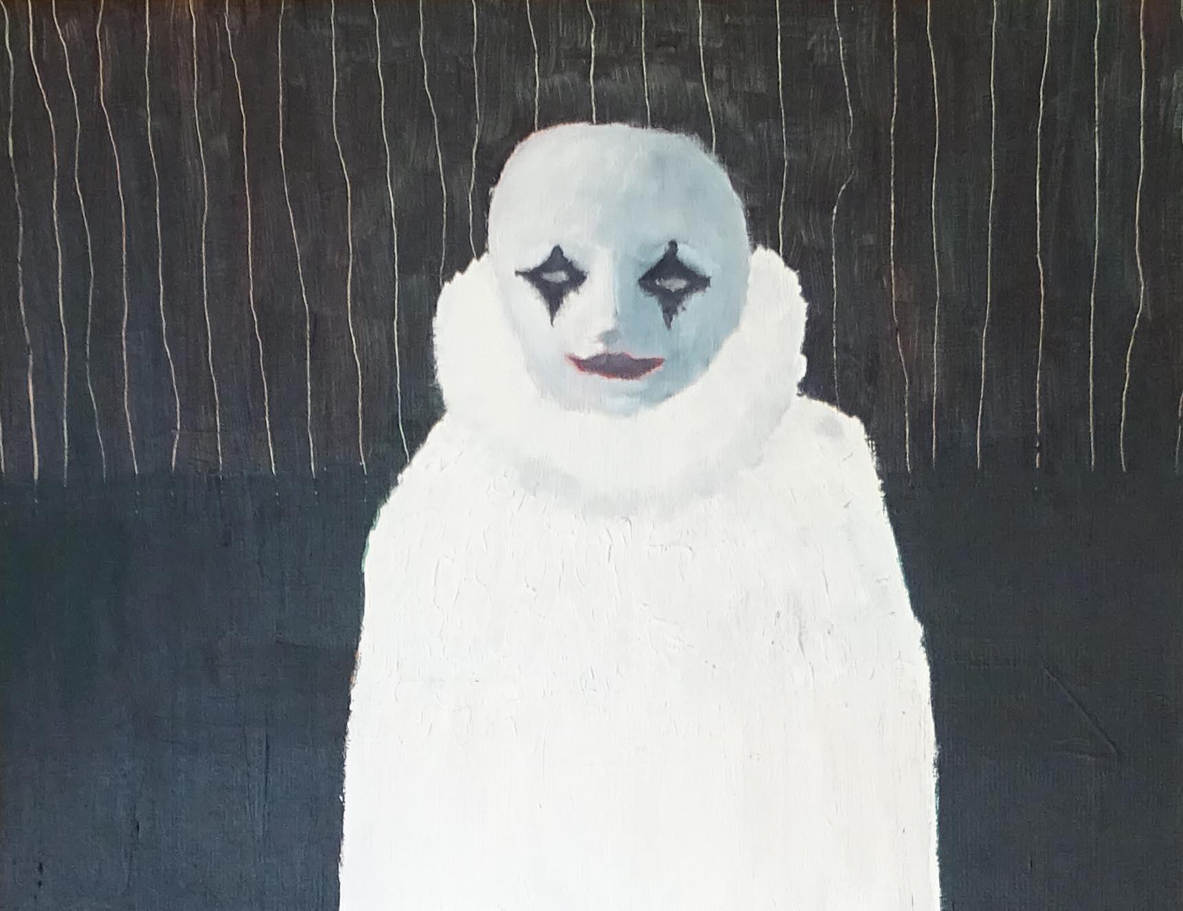 """""""Clown blanc"""" (inspiré de """"soir bleu"""" d'Edward Hopper)"""" - 1997 - p.g. [patrick gourgouillat]"""