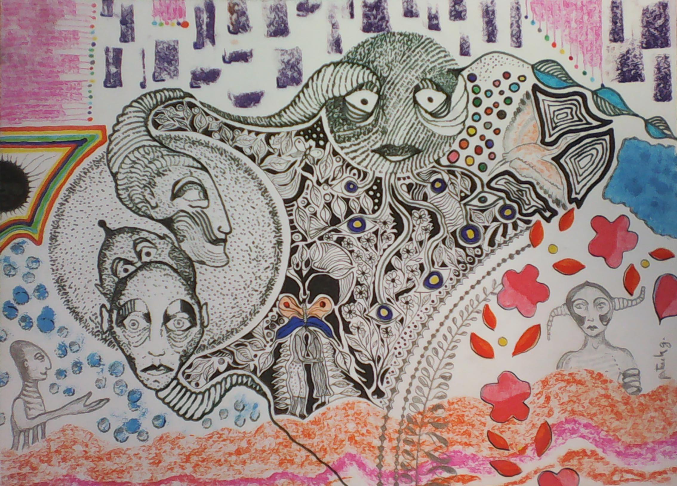 """""""Lorsque la lune vient (pour Samira)"""" – 2017 - p.g. [patrick gourgouillat]"""