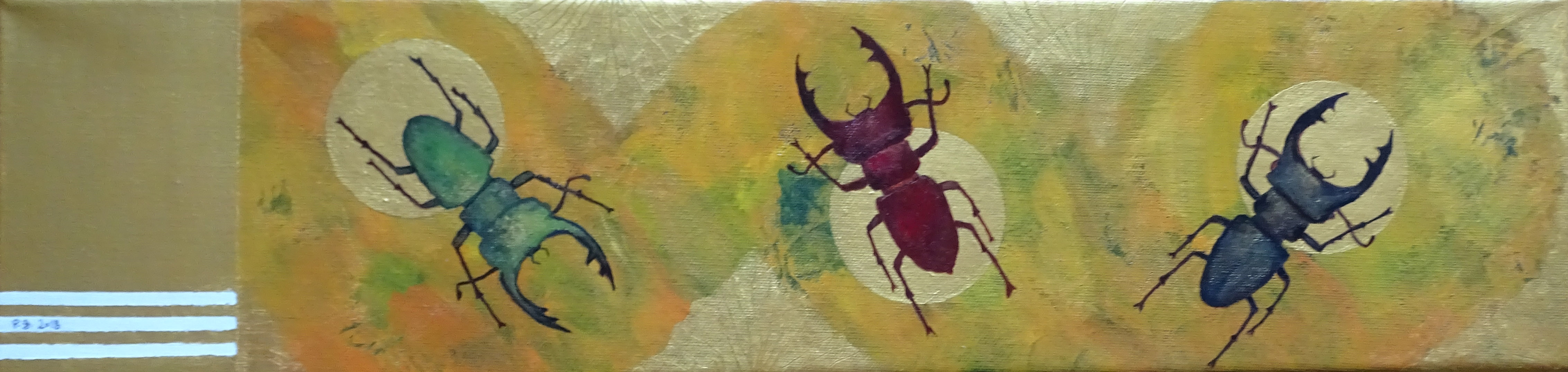 """We Three Beetles are"" - 2018 - p.g. [patrick gourgouillat]"