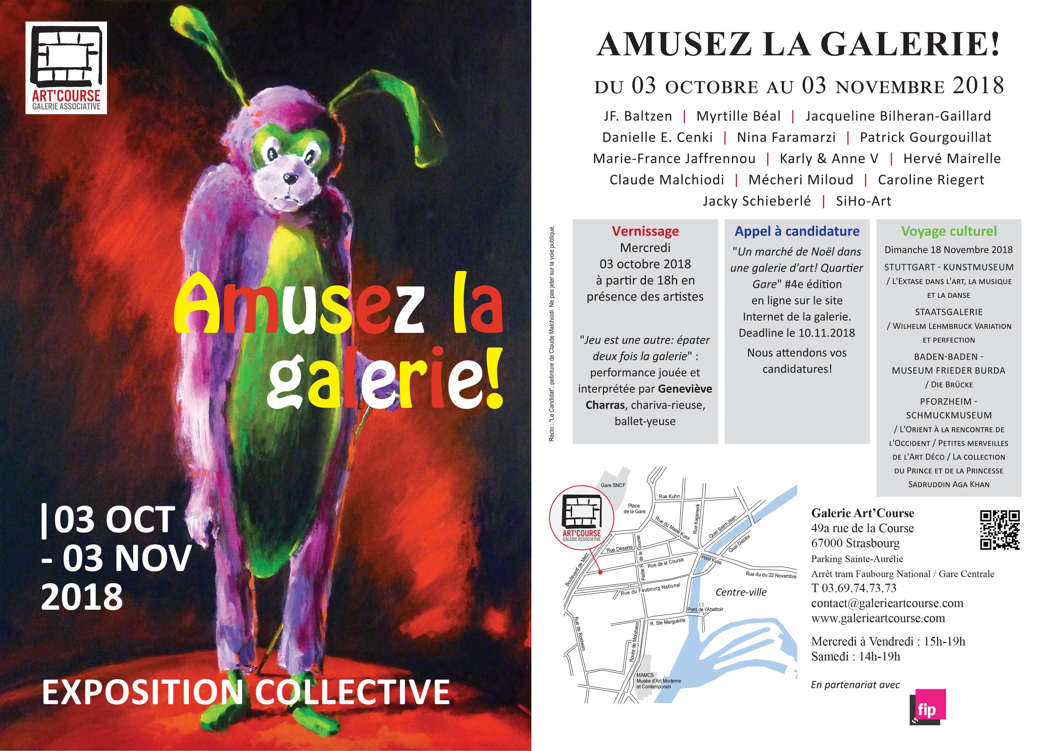 Galerie Art'Course - Exposition collective - octobre 2018 - p.g. [patrick gourgouillat]