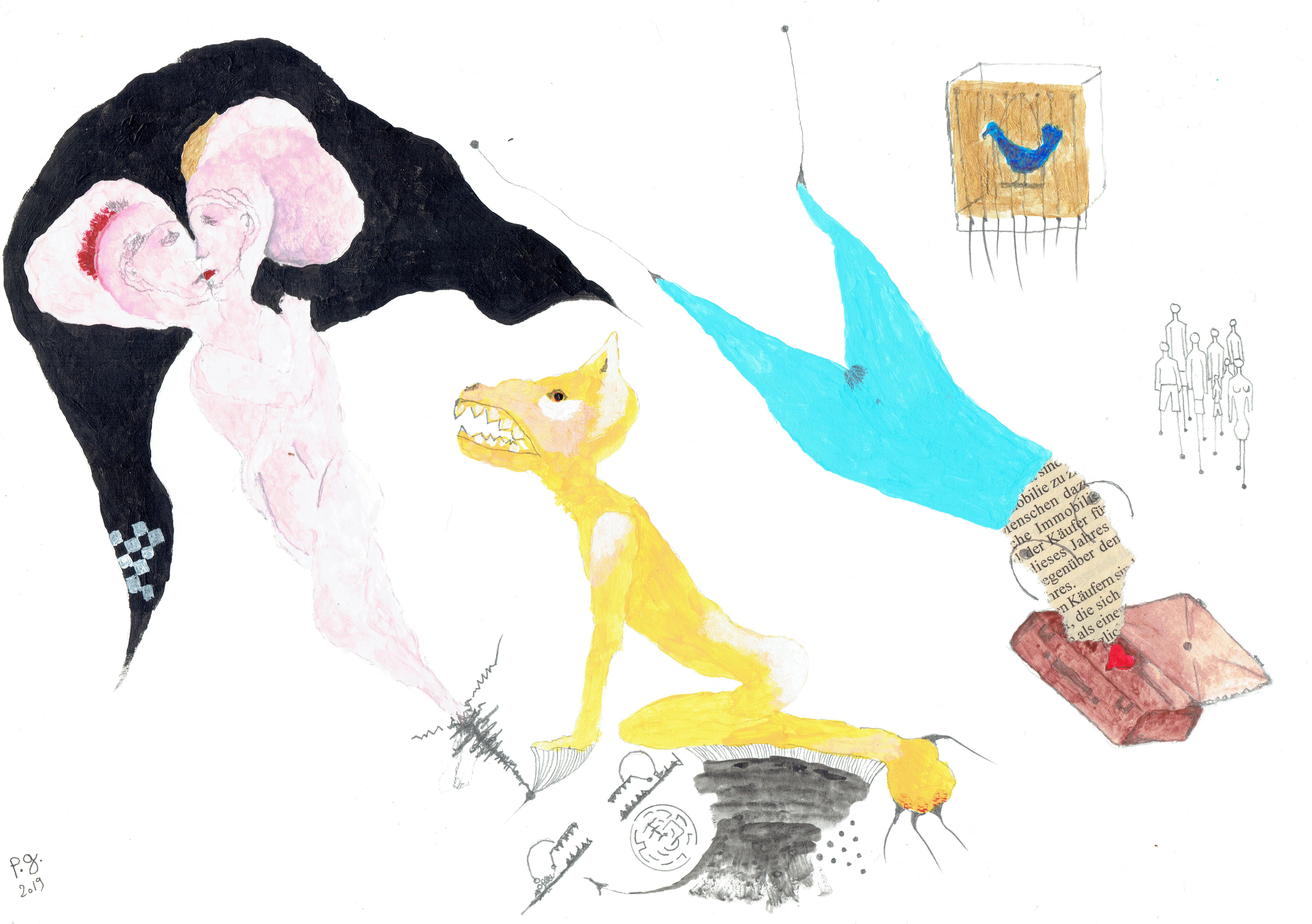 """Blue Bird"" - patrick gourgouillat - 2019"