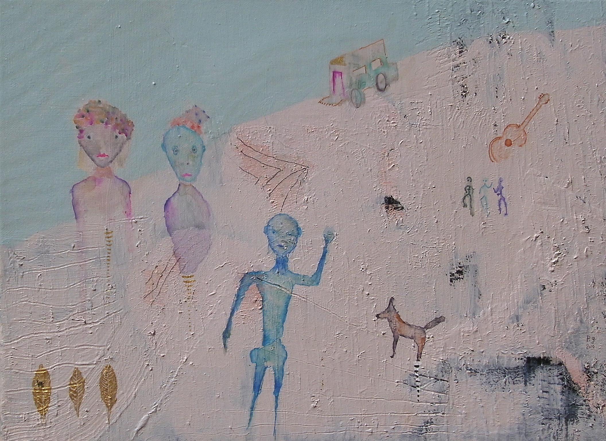 "L'homme bleu"" - patrick gourgouillat - 2019"