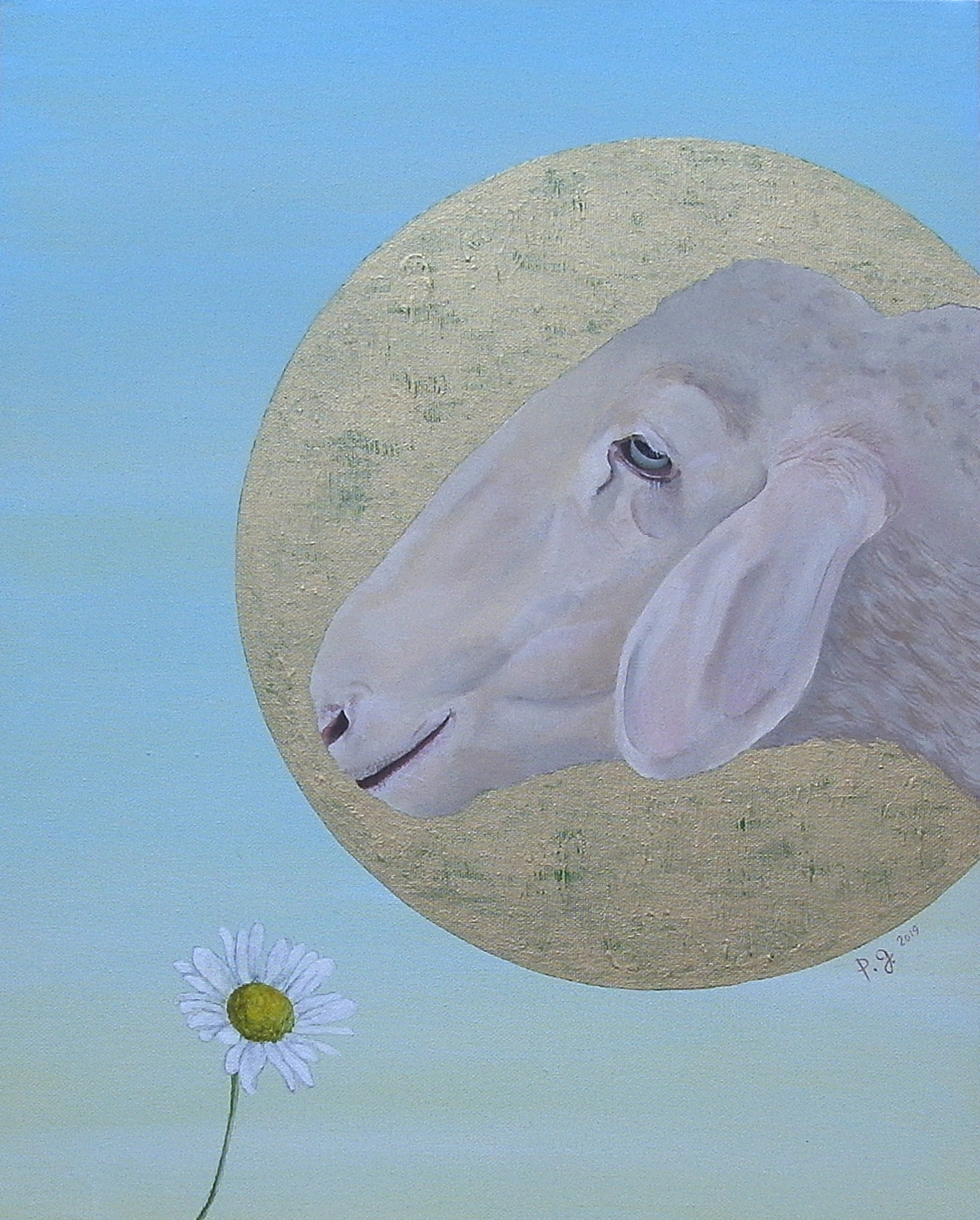 """Sheep And The Last Daisy On The Planet"" - patrick gourgouillat - 2019"
