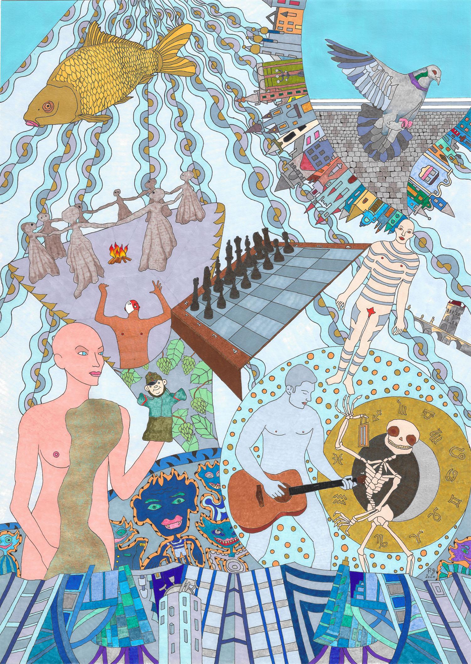 """The Blue Vltava"" - patrick gourgouillat - 2020"